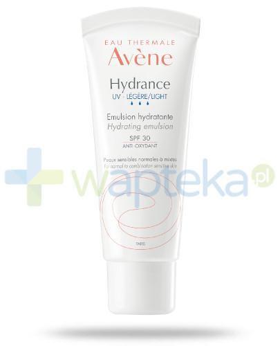 Avene Hydrance UV Lekki krem nawilżający SPF 30 40 ml + delikatny tonik 100 ml [GRATIS] - wapteka.pl