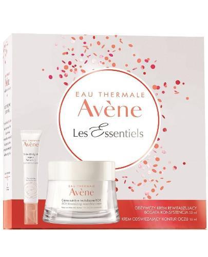 Avene Les Essentiels odżywczy krem rewitalizujący bogata konsystencja 50 ml + krem odświeżający kontur oczu 15 ml [ZESTAW] - wapteka.pl
