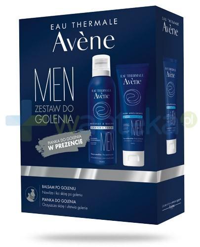 Avene Men ZESTAW balsam po goleniu 75 ml + pianka do golenia 200 ml