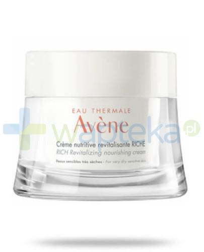 Avene odżywczy krem rewitalizujący bogata konsystencja do skóry wrażliwej i bardzo suchej 50 ml - wapteka.pl