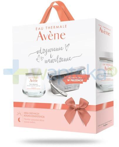 Avene Odżywienie i nawilżenie krem odżywczy bardzo bogata konsystencja 50 ml + kosmetyczka [ZESTAW]