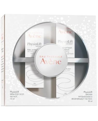 Avene PhysioLift balsam wygładzająco-regenerujący na noc 30 ml + krem do pielęgnacji skóry wokół oczu 15 ml [ZESTAW] - wapteka.pl