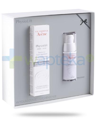 Avene PhysioLift Wygładzenie i ujędrnienie balsam wygładzająco-regenerujący na noc 30 ml + krem do pielęgnacji skóry wokół oczu 15 ml [ZESTAW]