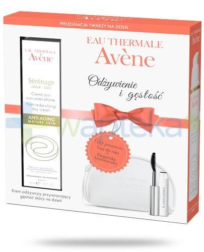 Avene Serenage krem odżywczy na dzień 40 ml + tusz do rzęs wysoka tolerancja + kosmetyczka
