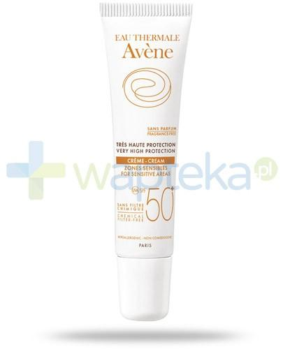 Avene Sun Krem SPF50+ do szczególnie wrażliwych okolic ciała i twarzy 15 ml - wapteka.pl