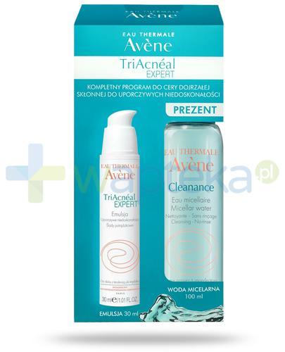 Avene TriAcneal Expert, kompletny program do cery dojrzałej skłonnej do uporczywych niedoskonałości, emulsja 30 ml + woda micelarna 100 ml [ZESTAW]