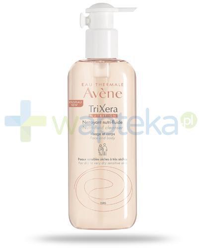 Avene TriXera Nutrition Nutri-fluid żel do twarzy i ciała skóra sucha bardzo sucha i wrażliwa 400 ml + ręcznik z mikrofibry [GRATIS]