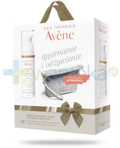 Avene Ujędrnianie i odżywienie ZESTAW Serenage Oczy balsam rewitalizujący pod oczy 15 ml + kosmetyczka
