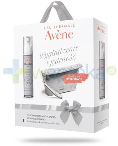 Avene Wygładzenie i jędrność ZESTAW Physiolift krem wygładzająco regenerujący na noc 30 ml + kosmetyczka