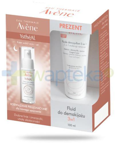 Avene YstheAL krem przeciwzmarszczkowy pod oczy 15 ml + fluid do demakijażu 3w1 100 ml [ZESTAW]