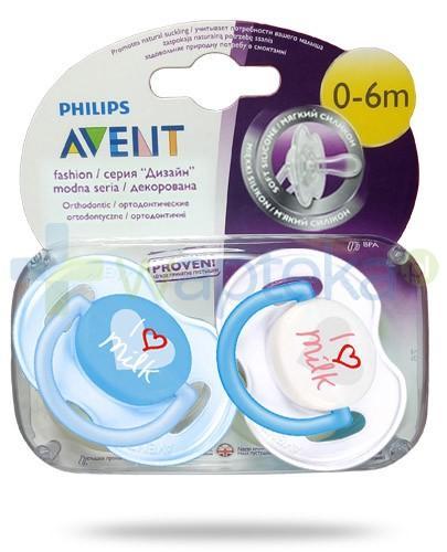 Avent Philips Fashion smoczek gryzak silikonowy ortodontyczny dla dzieci 0-6m 2 sztuki [SCF172/50]