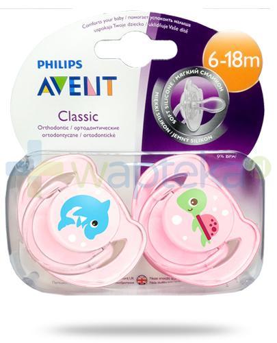 Avent Philips Classic smoczek silikonowy ortodontyczny dla dzieci 6-18m 2 sztuki [SCF169/38]