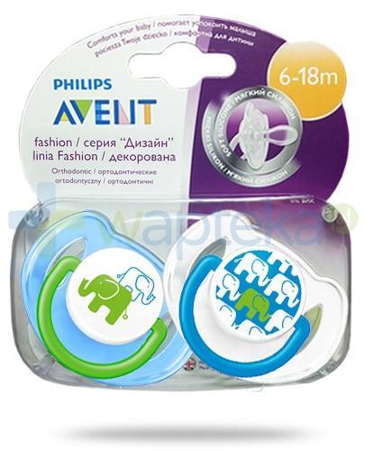 Avent Philips Fashion smoczek gryzak silikonowy ortodontyczny dla dzieci 6-18m 2 sztuki [SCF195/30]