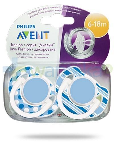 Avent Philips Fashion smoczek gryzak silikonowy ortodontyczny dla dzieci 6-18m 2 sztuki [197/01]