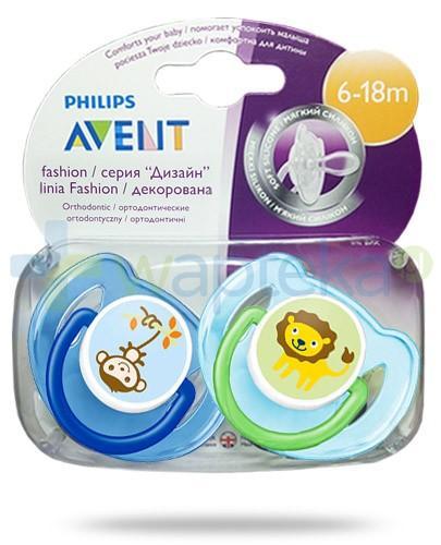 Avent Philips Fashion smoczek gryzak silikonowy ortodontyczny dla dzieci 6-18m 2 sztuki [SCF197/22]