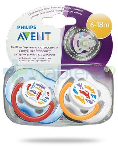 Avent FreeFlow smoczek gryzak silikonowy ortodontyczny o swobodnym przepływie powietrza dla dzieci 6-18m 2 sztuki [172/22]