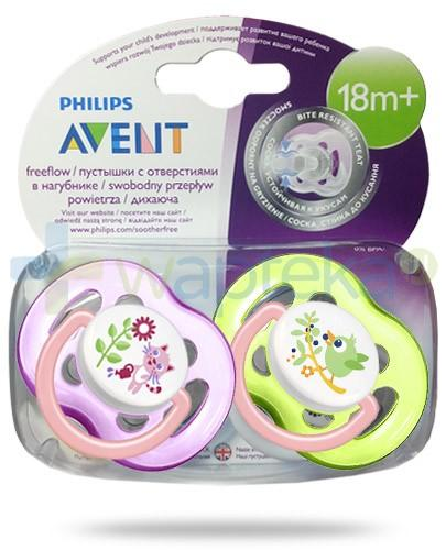 Avent Philips FreeFlow smoczek gryzak silikonowy ortodontyczny odporny na gryzienie dla dzieci 18m+ 2 sztuki [SCF186/25]