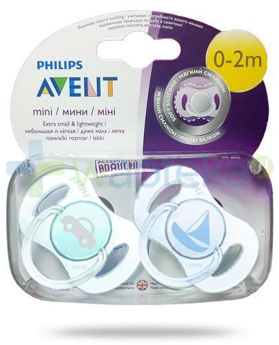 Avent Philips Mini smoczek gryzak silikonowy dla dzieci 0-2m 2 sztuki [SCF151/01]