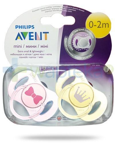 Avent Philips Mini smoczek gryzak silikonowy dla dzieci 0-2m 2 sztuki [SCF151/02]