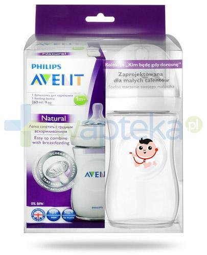 Avent Philips Natural butelka dla niemowląt 260 ml ze smoczkiem dla dzieci 1m+ [693/17] + butelka 260 ml Doctor [ZESTAW]