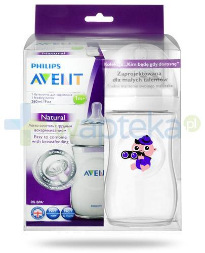 Avent Philips Natural butelka dla niemowląt 260 ml ze smoczkiem dla dzieci 1m+ [693/17] + butelka 260 ml Explorer [ZESTAW]