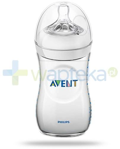 Avent Philips Natural butelka dla niemowląt 260 ml ze smoczkiem o wolnym wypływie dla dzieci 1m+ [SCF693/17]