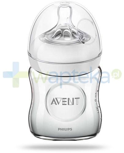 Avent Philips Natural butelka szklana dla niemowląt 120 ml ze smoczkiem dla niemowląt 0m+ [671/17]