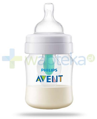 Avent Philips Anti-Colic butelka antykolkowa dla niemowląt 125 ml ze smoczkiem antykolkowym AirFree Vent 1m+ [SCF810/14]