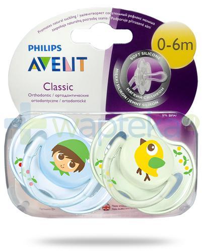 Avent Philips Classic smoczek silikonowy ortodontyczny dla dzieci 0-6m 2 sztuki [SCF169/43]