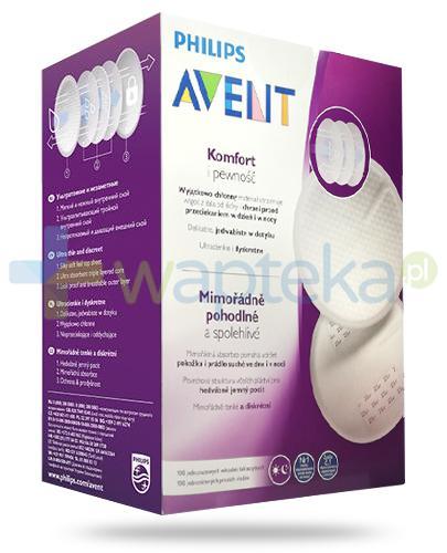 Avent Philips Komfort i pewność wkładki laktacyjne 100 sztuk [SCF254/13]