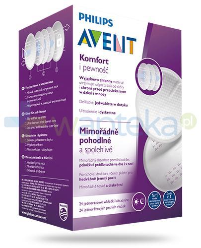 Avent Philips Komfort i pewność wkładki laktacyjne 24 sztuki [SCF254/24]