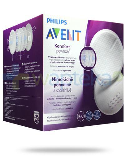 Avent Philips Komfort i pewność wkładki laktacyjne 60 sztuk [SCF254/61]