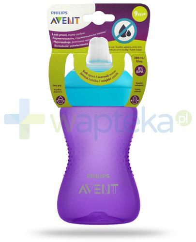 Avent Philips My Grippy kubek fioletowy 300 ml z miękkim, odpornym na gryzienie ustnikiem dla dzieci 9m+ [SCF802/02]