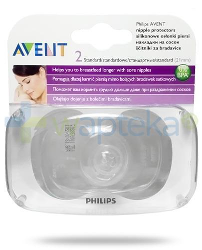 Avent Philips silikonowe osłonki na piersi 21mm 2 sztuki [SCF156/01]
