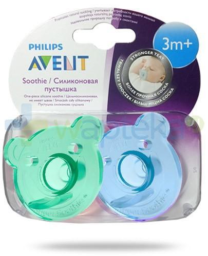 Avent Philips Soothie smoczek gryzak silikonowy ortodontyczny dla dzieci 3m+ 2 sztuki [SCF194/04]