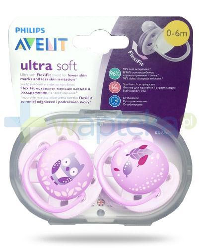 Avent Philips Ultra Soft miękki smoczek dla delikatnej skóry dziecka 0-6m 2 sztuki [227/20]