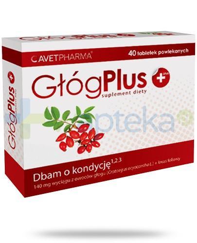 AvetPharma Głóg Plus 140mg + kwas foliowy 40 tabletek