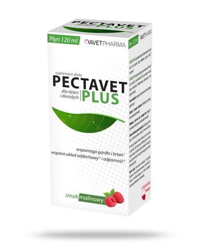 AvetPharma Pectavet Plus smak malinowy 120 ml