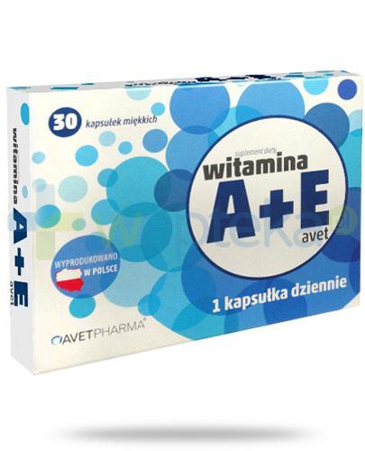 AvetPharma witamina A + E 30 kapsułek