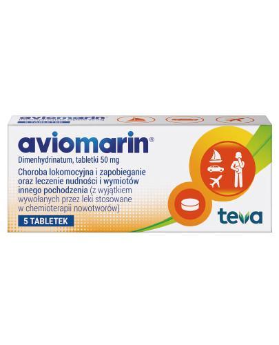 Aviomarin 50mg 5 tabletek