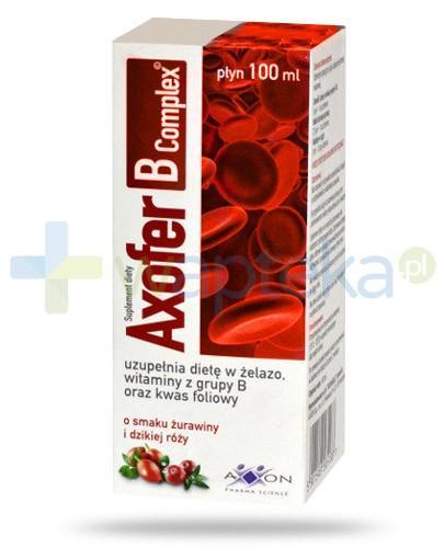 Axofer B Complex płyn o smaku żurawiny i dzikiej róży 100 ml
