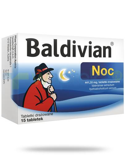 Baldivian Noc 441,35mg tabletki drażowane 15 sztuk