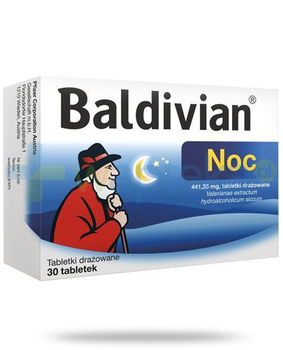 Baldivian Noc 441,35mg tabletki drażowane 30 sztuk