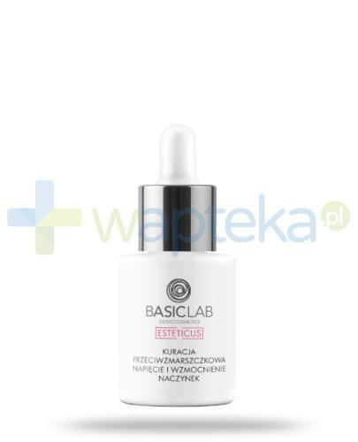 BasicLab Esteticus kuracja przeciwzmarszczkowa, napięcie i wzmocnienie naczynek na dzień i na noc, serum 15 ml