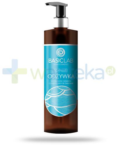 BasicLab Capillus odżywka do włosów cienkich 300 ml + BasicLab AntiPerspirs 48h 60 ml [GRATIS]