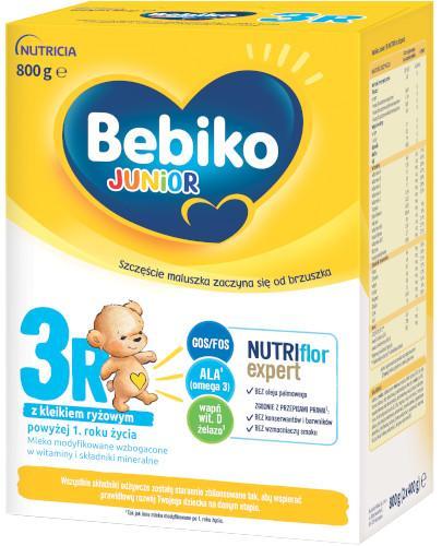 Bebiko 3R Junior NutriFlor+ mleko w proszku z kleikiem ryżowym dla dzieci 12m+ 800 g