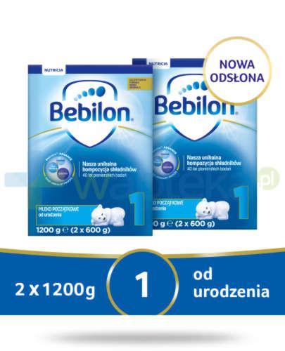 Bebilon 1 Pronutra-Advance mleko początkowe od urodzenia 2x 1200 g [DWUPAK]