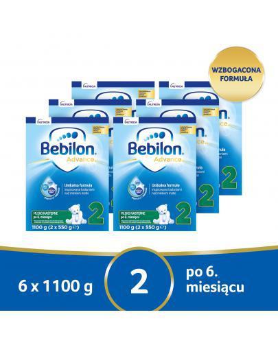 Bebilon 2 Pronutra Advance mleko modyfikowane po 6. miesiącu 6x 1100 g [SZEŚCIOPAK]