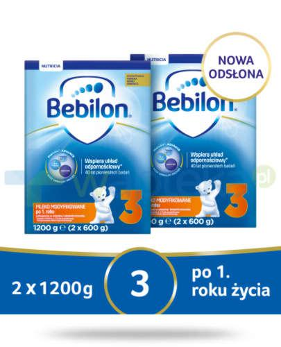 Bebilon 3 Pronutra-Advance mleko modyfikowane po 1. roku 2x 1200 g [DWUPAK]