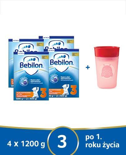Bebilon 3 Pronutra-Advance mleko modyfikowane po 1. roku 4x 1200 g [CZTEROPAK] + Mustela Solaires krem ochronny do twarzy SPF50+ 40 ml [GRATIS]